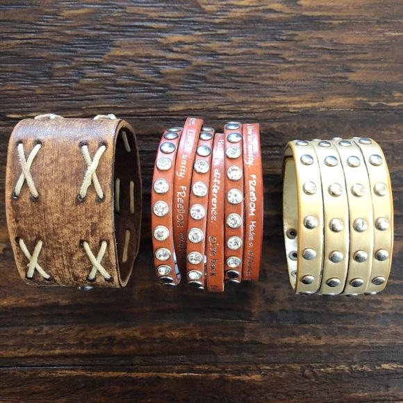 8680a079e Humanity for All Jewelry | 3 Wrap Bracelets Including A | Poshmark
